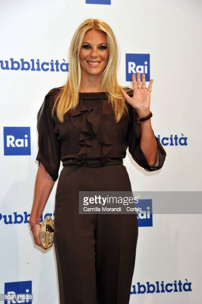 Eleonora Daniele attends the Rai Show Schedule Presentation In Rome on July 4 2017 in Rome Italy