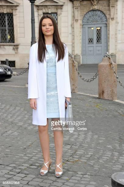 Eleonora Gaggero arrives at the 61 David Di Donatello nominees presentation at Palazzo del Quirinale on March 27 2017 in Rome Italy