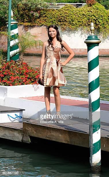Eleonora Gaggero arrives at the Excelsior Darsena on September 10 2016 in Venice Italy