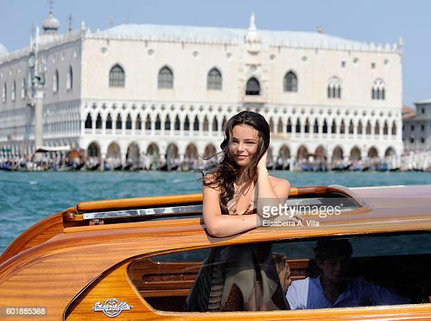 Eleonora Gaggero is seen in Venice on September 10 2016 in Venice Italy