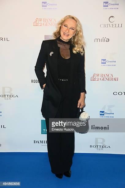Eleonora Giorgi attends a photocall for the 'RAI Cinema 15th Anniversary' on October 29 2015 in Rome Italy