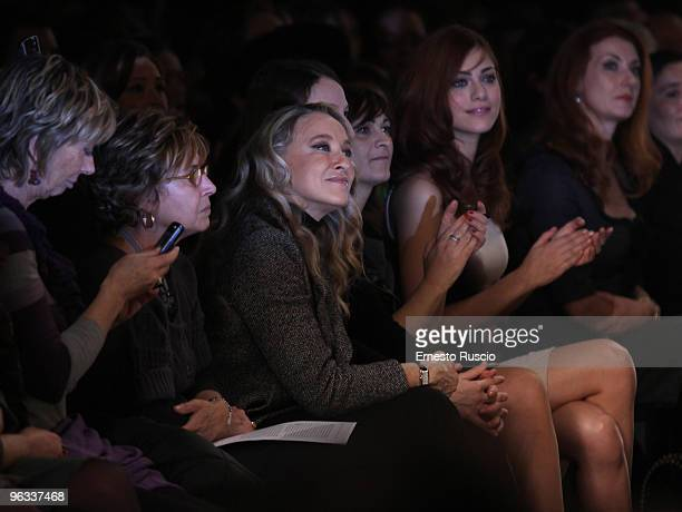 Eleonora Giorgi attends Lorenzo Riva fashion show as part of the Rome Fashion Week Spring / Summer 2010 on 1 February 2010 in Rome Italy