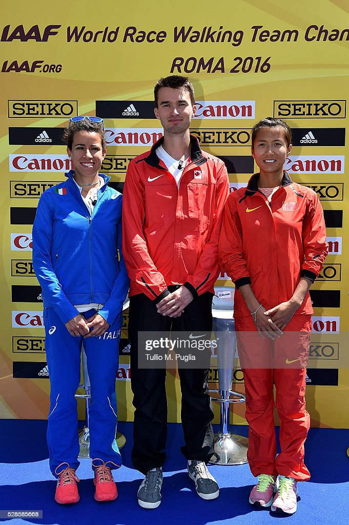 Eleonora Giorgi, <a gi-track='captionPersonalityLinkClicked' href=/galleries/search?phrase=Benjamin+Thorne&family=editorial&specificpeople=11242764 ng-click='$event.stopPropagation()'>Benjamin Thorne</a> and <a gi-track='captionPersonalityLinkClicked' href=/galleries/search?phrase=Hong+Liu&family=editorial&specificpeople=2253576 ng-click='$event.stopPropagation()'>Hong Liu</a> attend the IAAF - Roma 2016 press conference at Sheraton Parco dei Principi hotel on May 6, 2016 in Rome, Italy.