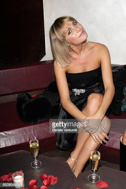 Eleonora Pedron attends the Capri Hollywood Film Festival Milan Dinner Party at Old Fashion Cafe on October 13 2008 in Milan Italy