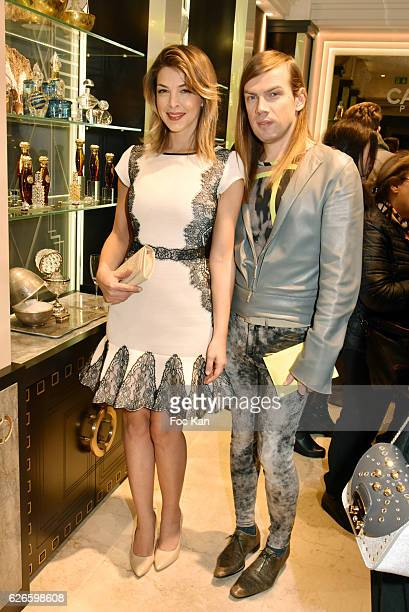 Eleonore Boccara and Christophe Guillarme attend 'Coup de Poudre' Make Up Launch by Caron at Caron Francois 1er Shop on November 29 on 2016 in Paris...