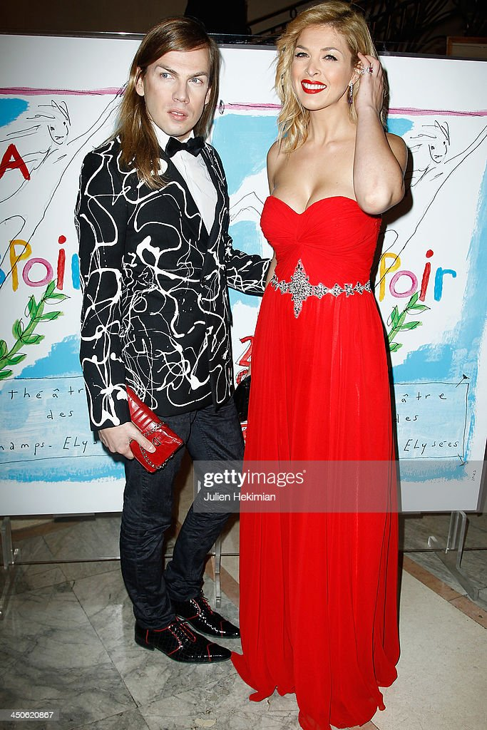 Eleonore Boccara and Christophe Guillarme attend the 'Gala de l'Espoir' hosts by the Ligue Contre Le Cancer at Theatre des Champs-Elysees on November 19, 2013 in Paris, France.