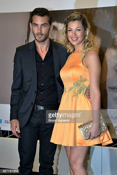 Eleonore Boccara and Gianni Gardinelli attend opening ceremony of the 6th Lyon Film Festival on October 13 2014 in Lyon France