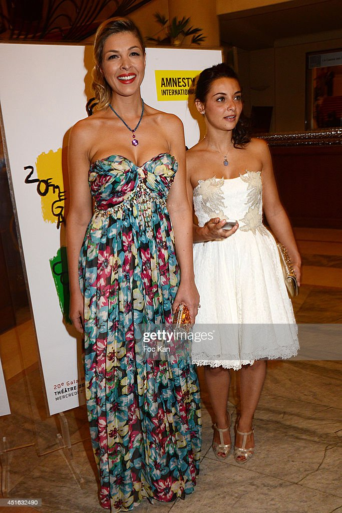 Eleonore Boccara and <a gi-track='captionPersonalityLinkClicked' href=/galleries/search?phrase=Priscilla+Betti&family=editorial&specificpeople=10616880 ng-click='$event.stopPropagation()'>Priscilla Betti</a> attend the '20th Amnesty International France' : Gala At Theatre Des champs Elysees on July 2, 2014 in Paris, France.