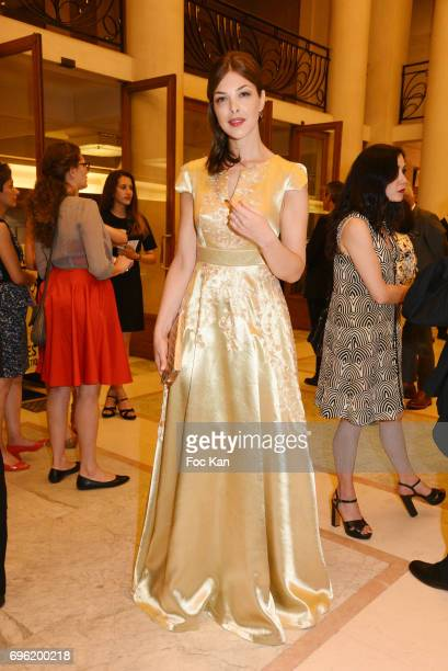 Eleonore Boccara attends Amnesty International 'Musique Contre L'Oubli' Gala Ceremony at Theatre des Champs Elysees on June14 2017 in Paris France