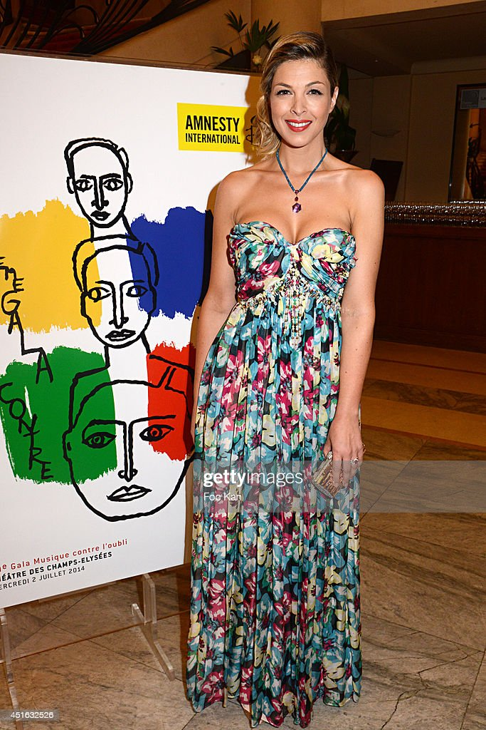 Eleonore Boccara attends the '20th Amnesty International France' : Gala At Theatre Des champs Elysees on July 2, 2014 in Paris, France.