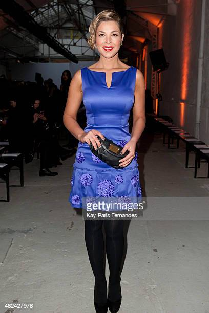 Eleonore Boccara attends the Antonio Ortega show as part of Paris Fashion Week Haute Couture Spring/Summer 2015 on January 28 2015 in Paris France