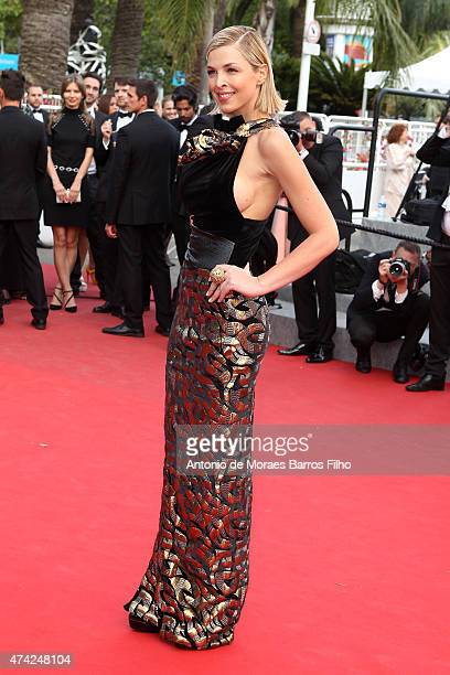 Eleonore Boccara attends the 'Dheepan' premiere during the 68th annual Cannes Film Festival on May 21 2015 in Cannes France