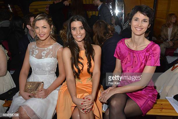 Eleonore Boccara Ludivine Sagna and Eglantine Emeye attend the Christophe Guillarme show as part of the Paris Fashion Week Womenswear Fall/Winter...