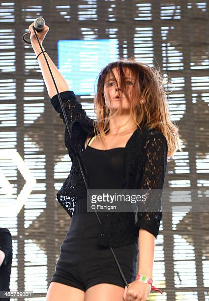 Eleonore Fernese of Carbon Airways performs during the 2014 Coachella Valley Music And Arts Festival at The Empire Polo Club on April 19 2014 in...