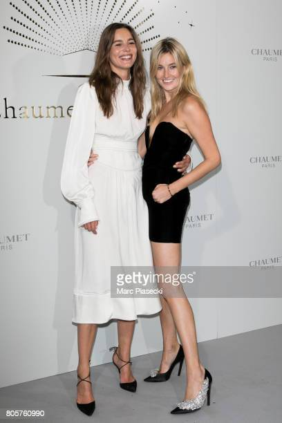 Eleonore Toulin and Camille Charriere attend the 'Chaumet Est Une Fete' Haute Joaillerie Collection Launch as part of Haute Couture Paris Fashion...