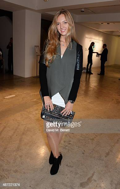 Eleonore von Habsburg attends the Bianca Jagger Human Rights Foundation 'Arts for Human Rights' benefit gala auction at Phillips Gallery on October...