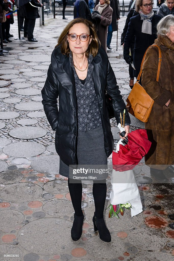 Eleonore Weisgerber attends the Wolfgang Rademann memorial service on February 11, 2016 in Berlin, Germany.