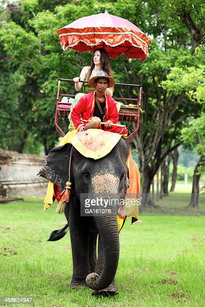 Elephant ride around the Ancient Ruins of Ayutthaya