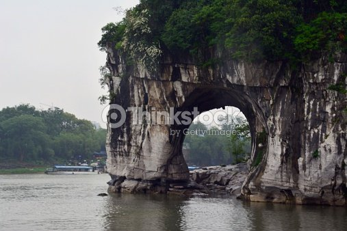 La collina della proboscide dellelefante guilin in cina - Elefante foglio di colore dell elefante ...