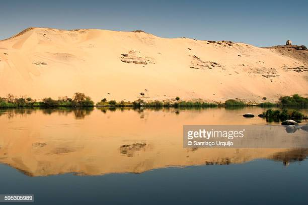 Elephantine island on Nile river