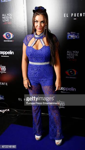 Elettra Lamborghini attends Big Brother VIP party on April 21 2017 in Madrid Spain