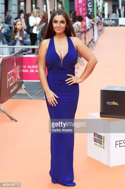 Elettra Lamborghini attends MTV Shore premiere at the Principal Teather during the FesTVal 2017 on September 6 2017 in VitoriaGasteiz Spain