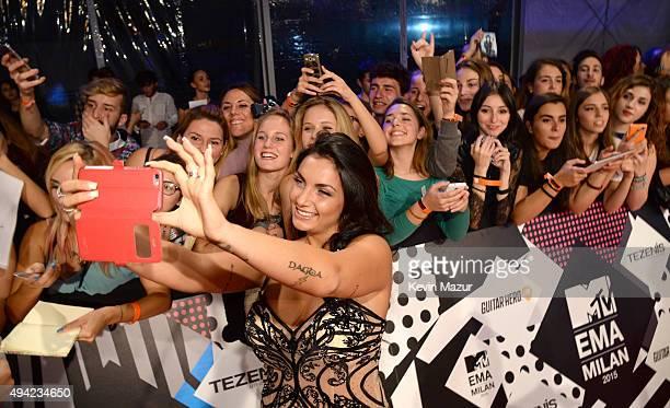 Elettra Lamborghini attends the MTV EMA's 2015 at Mediolanum Forum on October 25 2015 in Milan Italy
