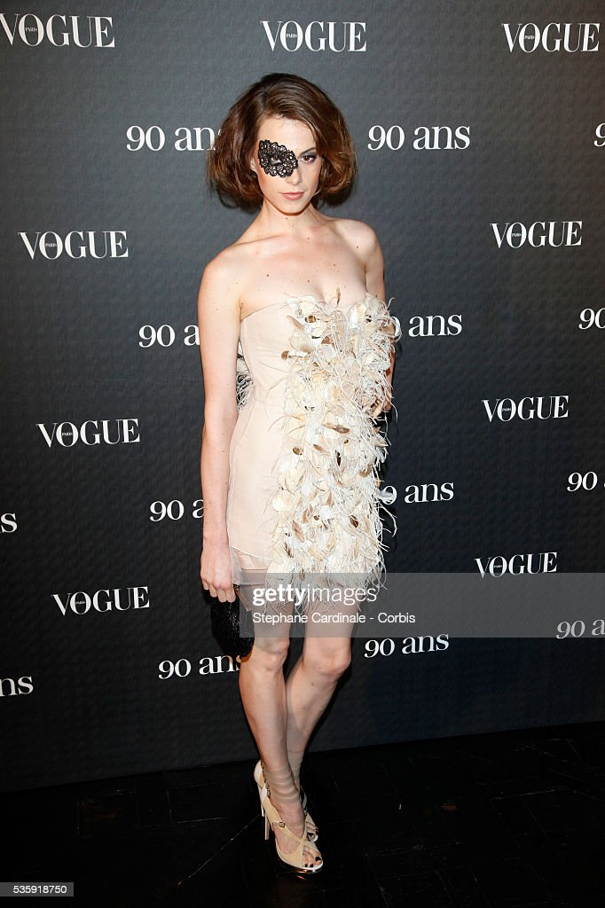 Elettra Rosselini attends the Vogue 90th Anniversary Party in Paris.