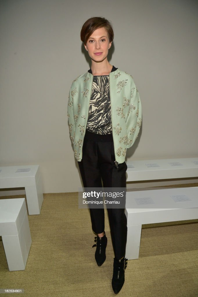 Elettra Rossellini attends the Giambattista Valli show as part of the Paris Fashion Week Womenswear Spring/Summer 2014 on September 30, 2013 in Paris, France.