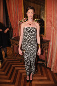 Elettra Rossellini Weidemann attends RELAIS CHATEAUX 60th Anniversary Guest Chef Dinner Launch at Consulate General of France on October 1 2014 in...