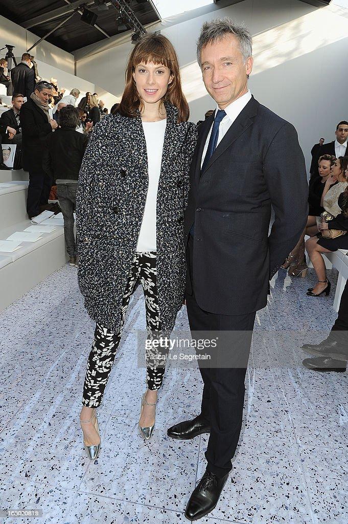 Elettra Rossellini Wiedemann (L) and Geoffroy de la Bourdonnaye attend the Chloe Fall/Winter 2013 Ready-to-Wear show as part of Paris Fashion Week on March 3, 2013 in Paris, France.