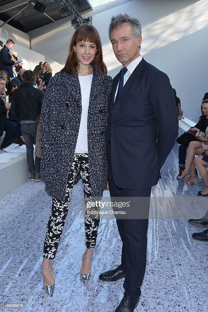 Elettra Rossellini Wiedemann and Geoffroy de la Bourdonnaye attend the Chloe Fall/Winter 2013 Ready-to-Wear show as part of Paris Fashion Week on March 3, 2013 in Paris, France.