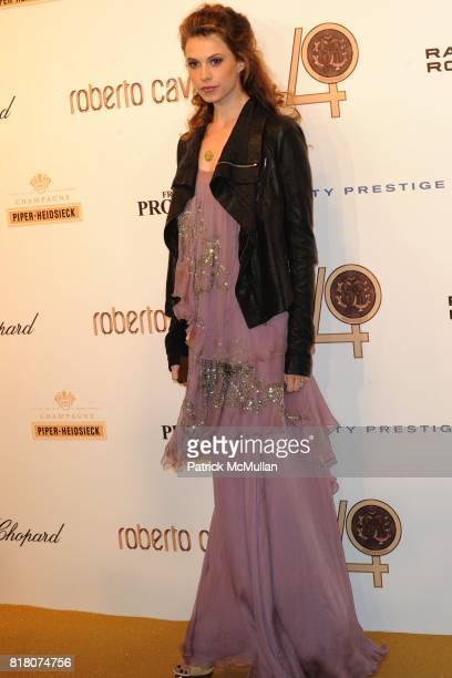 Elettra Rossellini Wiedemann attends ROBERTO CAVALLI 40th Anniversary Event CONTACT SIPA PRESS FOR SALES at Les BeauxArts de Paris on September 29...
