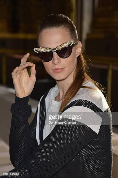 Elettra Rossellini Wiedemann attends Stella McCartney Spring / Summer 2013 show as part of Paris Fashion Week on October 1 2012 in Paris France