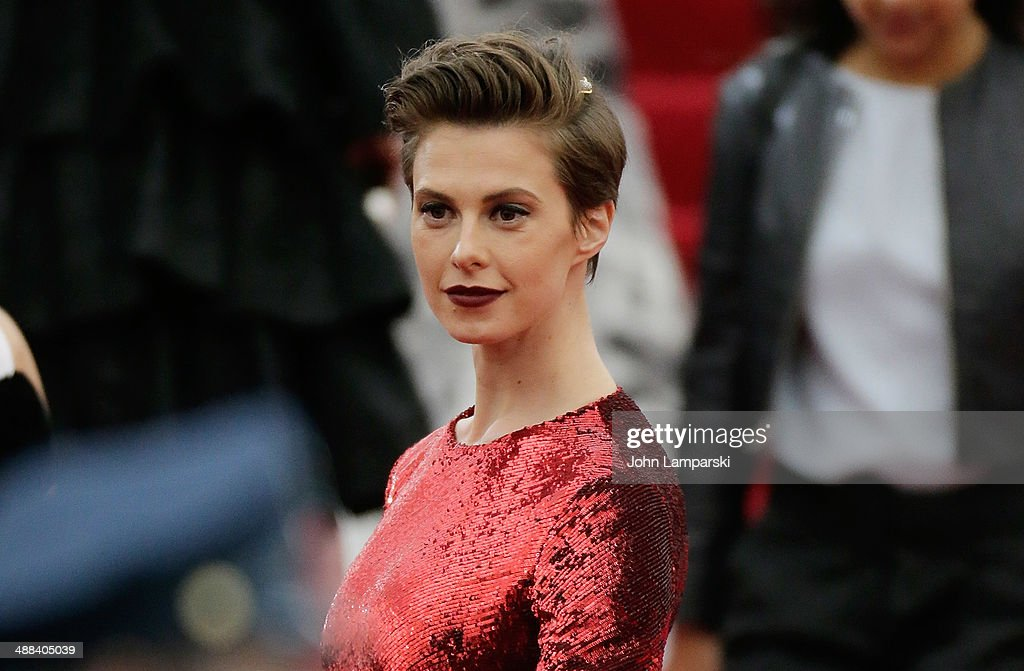 Elettra Rossellini Wiedemann attends the 'Charles James: Beyond Fashion' Costume Institute Gala at the Metropolitan Museum of Art on May 5, 2014 in New York City.
