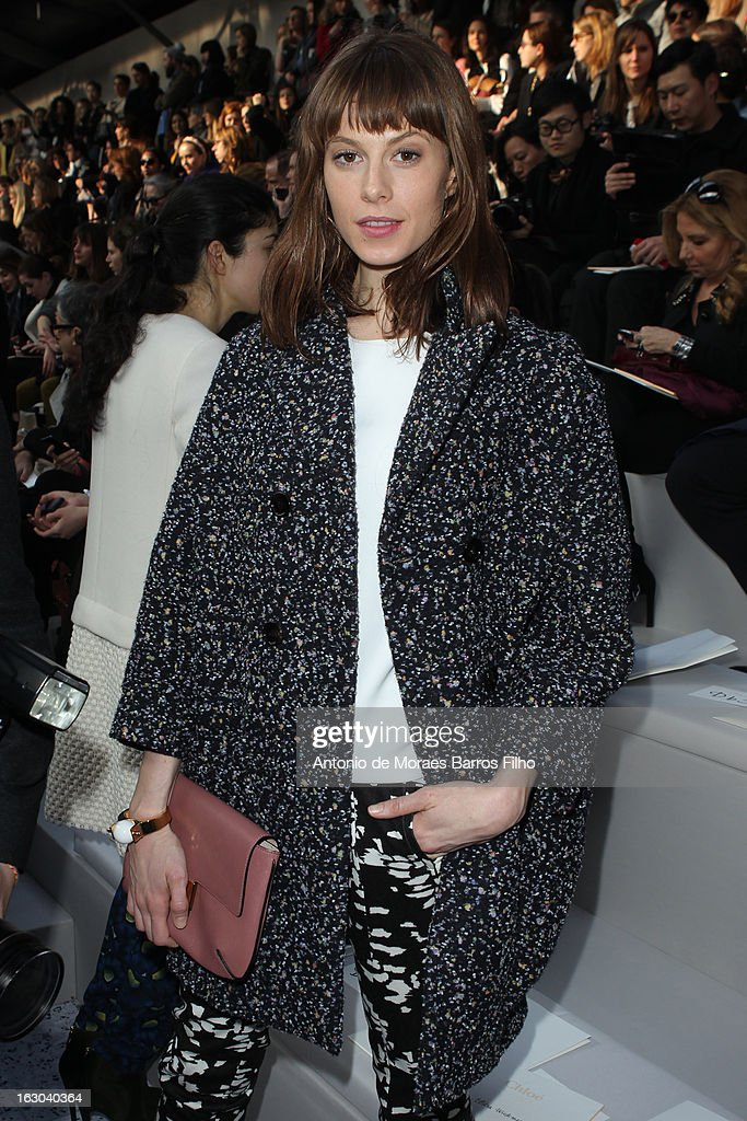 Elettra Rossellini Wiedemann attends the Chloe Fall/Winter 2013 Ready-to-Wear show as part of Paris Fashion Week on March 3, 2013 in Paris, France.