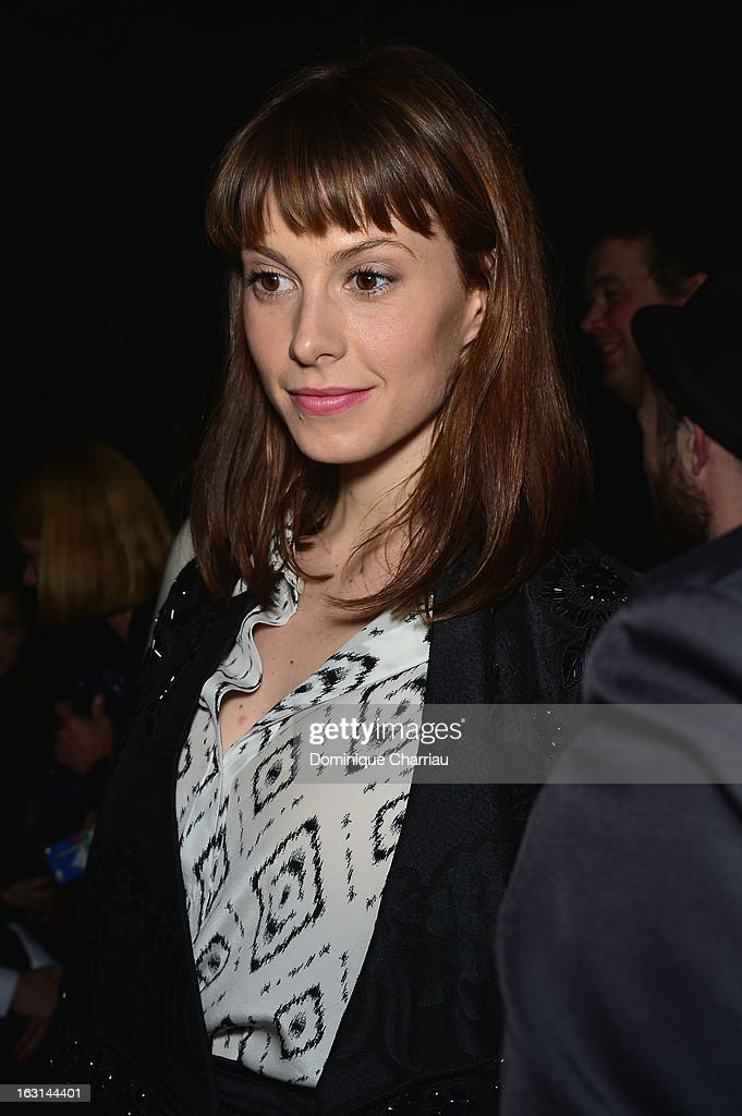 Elettra Rossellini Wiedemann attends the Valentino Fall/Winter 2013 Ready-to-Wear show as part of Paris Fashion Week on March 5, 2013 in Paris, France.
