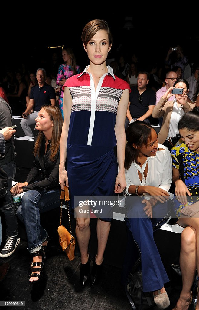 Elettra Rossellini-Wiedemann attends the Prabal Gurung fashion show during Mercedes-Benz Fashion Week Spring 2014 at Skylight at Moynihan Station on September 7, 2013 in New York City.