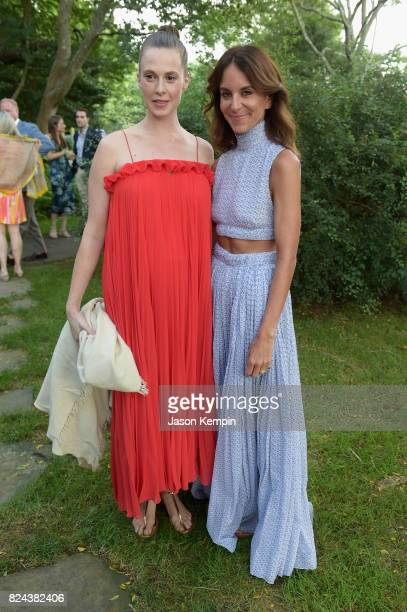 Elettra Wiedemann and Alison Loehnis attend The GOOD Foundation's Hamptons Summer Dinner cohosted by NETAPORTER on July 29 2017 in East Hampton New...