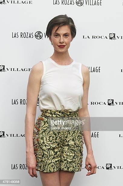 Elettra Wiedemann attends 'Las Rozas Village' terraces opening at the Las Rozas Villas Comercial Center on July 1 2015 in Madrid Spain
