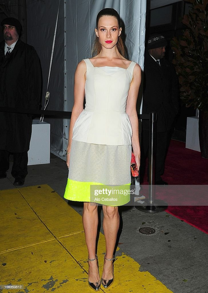 Elettra Wiedemann attends the 9th annual CFDA/Vogue Fashion Fund Awards at Center 548 on November 13, 2012 in New York City.