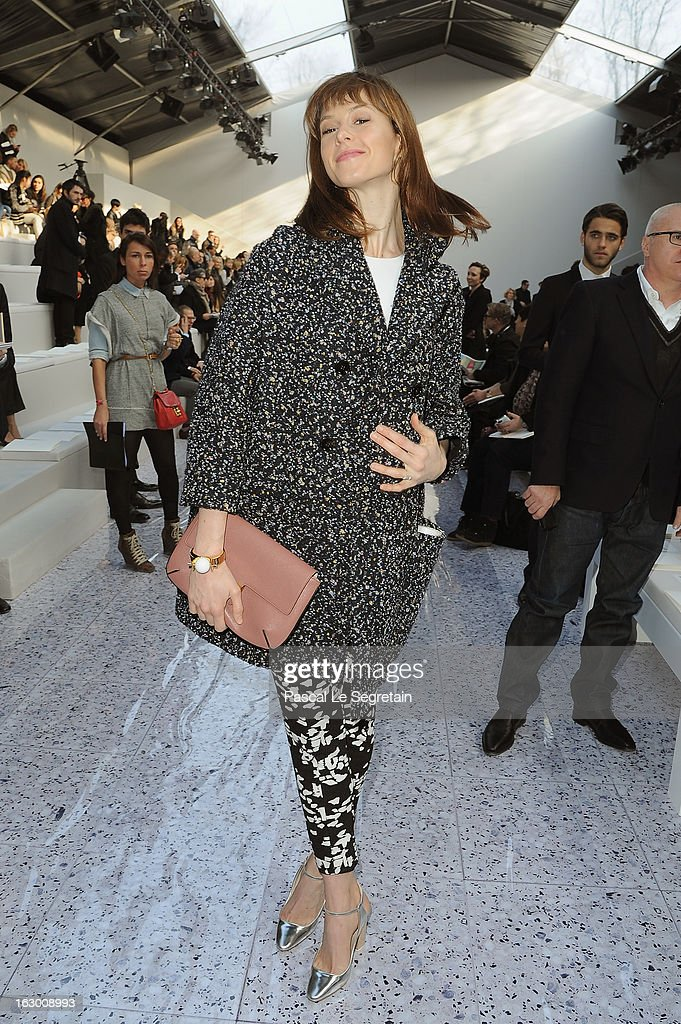 Elettra Wiedemann attends the Chloe Fall/Winter 2013 Ready-to-Wear show as part of Paris Fashion Week on March 3, 2013 in Paris, France.