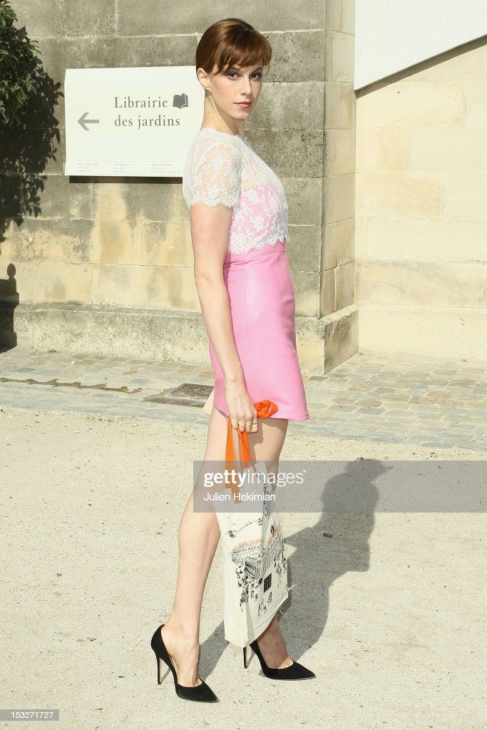 Elettra Wiedemann attends the Valentino Spring / Summer 2013 show as part of Paris Fashion Week at Espace Ephemere Tuileries on October 2, 2012 in Paris, France.