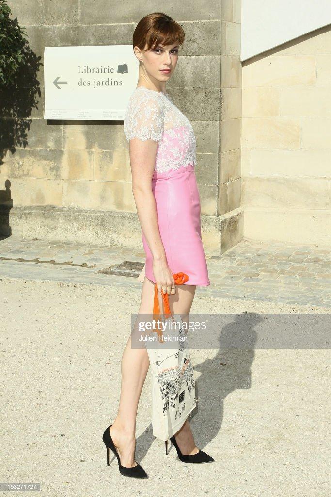 Valentino: Arrivals - Paris Fashion Week Womenswear Spring / Summer 2013