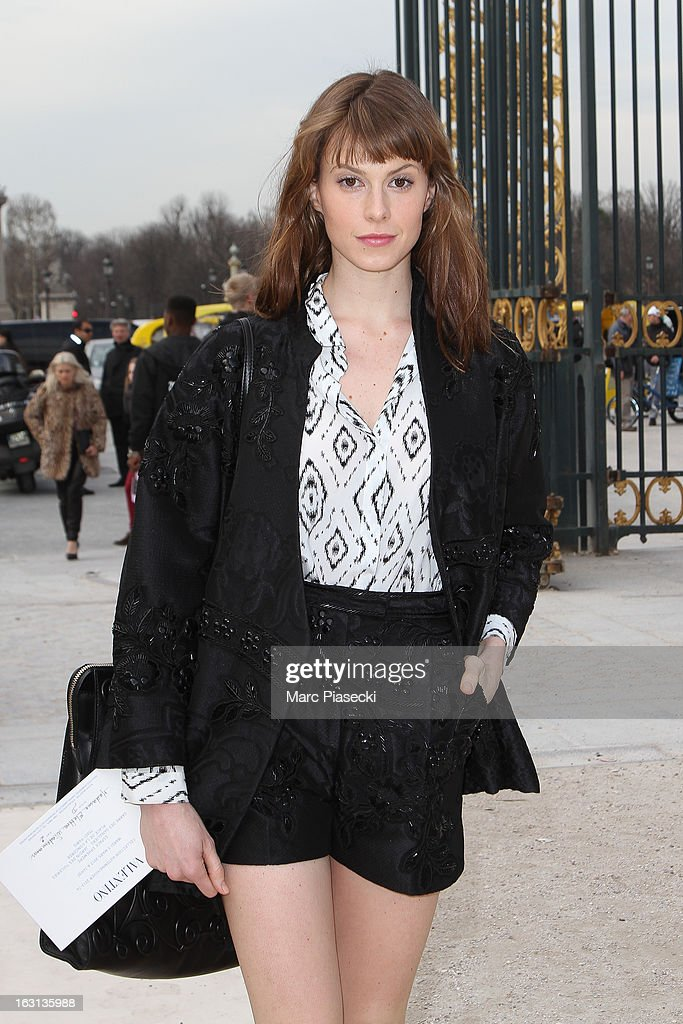 Elettra Wiedemann Rossellini arrives to attend the 'Valentino' Fall/Winter 2013 Ready-to-Wear show as part of Paris Fashion Week on March 5, 2013 in Paris, France.