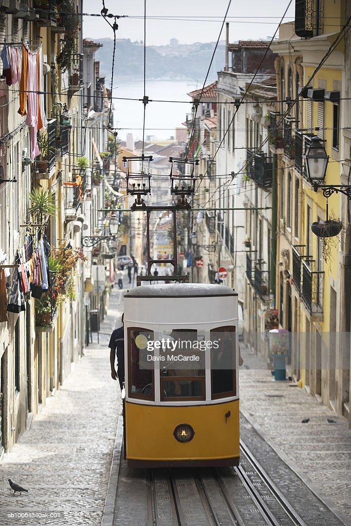 Elevador de Bica, Lisbon : Stock Photo