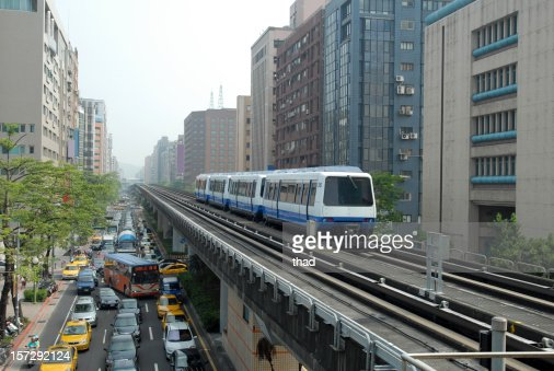 Elevated Light Rail Stock Photo Getty Images