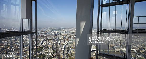 Elevated panoramic view from SHARD platform to West of city The SHARD London United Kingdom Architect Renzo Piano Building Workshop 2012