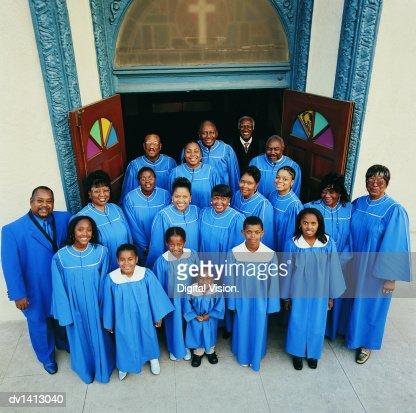 Elevated Portrait of a Church Choir
