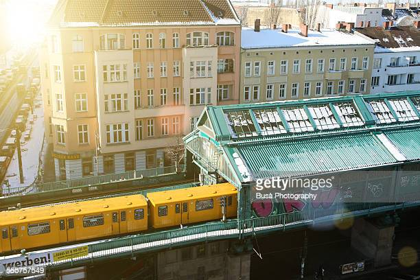 Elevated railway in Prenzlauerberg, Berlin